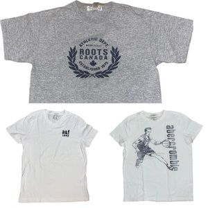 Boys XL Bundle of 3 T-Shirts - Roots and A&F
